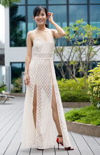 Load image into Gallery viewer, Dia Lace Wide leg Jumpsuit