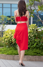 Load image into Gallery viewer, Salsa Ruffle Drawstring Skirt