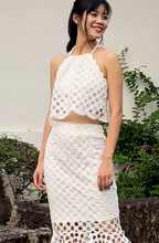 Load image into Gallery viewer, Rey Halter Lace Midi Top