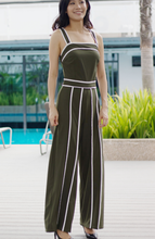 Load image into Gallery viewer, Georgia Strap Wide Leg Jumpsuit with Tie