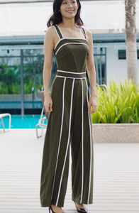 Georgia Strap Wide Leg Jumpsuit with Tie