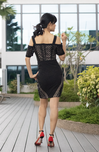 Strappy Lace Sheath Dress