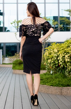 Load image into Gallery viewer, Polka Floral Lace Pencil Dress