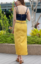 Load image into Gallery viewer, Marina Ruched Midi Top with Cut Out