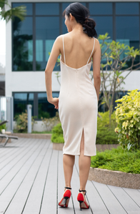 Lena Low Back Pencil Dress