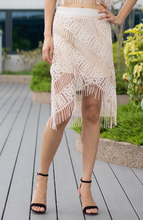 Load image into Gallery viewer, Alexa Lace Fringe Skirt