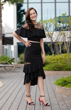 Load image into Gallery viewer, Brigitte Drapey Net Tiered Skirt