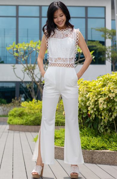 Wisteria Square Top Lace Jumpsuit