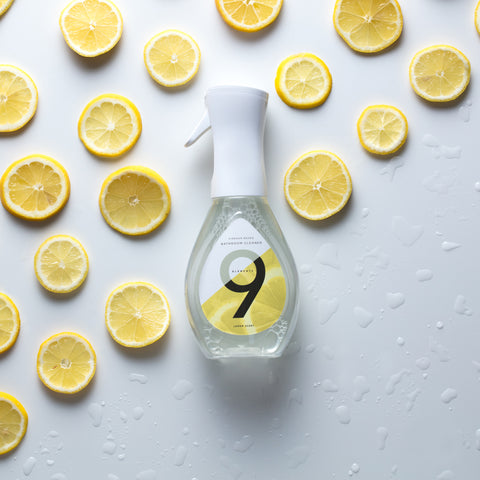 9 Elements lemon scented bathroom cleaner
