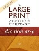 The Large Print American Heritage Dictionary, Revised Edition
