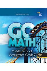 Go Math!: Teacher Edition Accelerated 7 2014