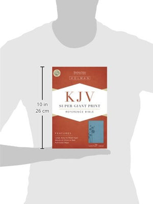 Kjv Super Giant Print Reference Bible, Teal Leathertouch Indexed