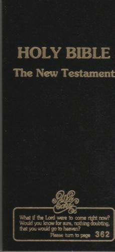 Holy Bible New Testament Soul Winners' Checkbook
