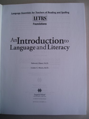 Letrs Foundations Book With Dvd Of Videos
