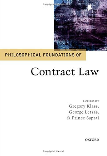 Philosophical Foundations Of Contract Law (Philosophical Foundations Of Law)