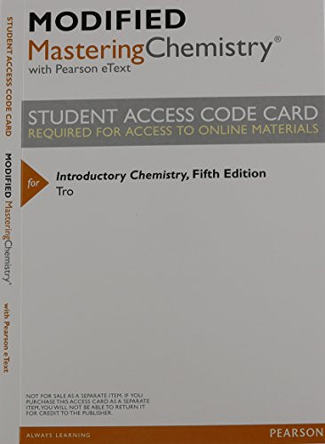 Introductory Chemistry, Books A La Carte Edition & Modified Masteringchemistry With Pearson Etext -- Valuepack Access Card -- For Introductory Chemistry Package