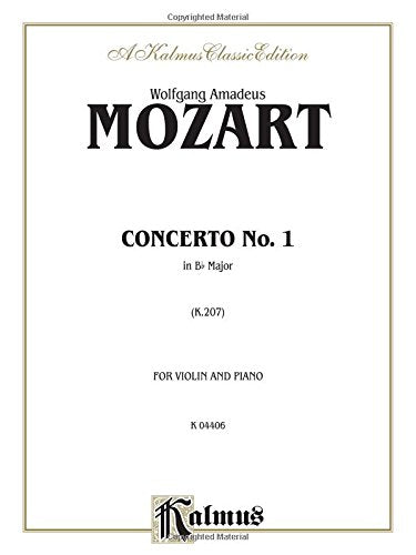 Violin Concerto No. 1, K. 207 (Kalmus Edition)