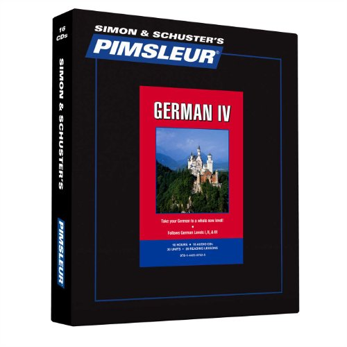 Pimsleur German Level 4 Cd: Learn To Speak And Understand German With Pimsleur Language Programs (Comprehensive) (English And German Edition)