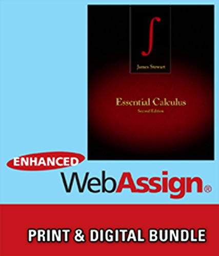 Bundle: Essential Calculus, 2Nd + Webassign Printed Access Card For Stewart'S Essential Calculus, 2Nd Edition, Multi-Term + Custom Enrichment Module: ... Webassign - Start Smart Guide For Students