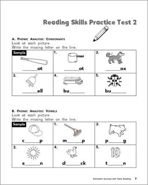 Scholastic Success With: Tests: Reading Workbook: Grade 1 (Scholastic Success With Workbooks: Tests Reading)