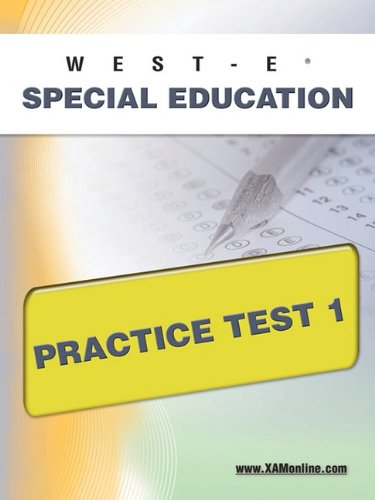 West-E Special Education Practice Test 1
