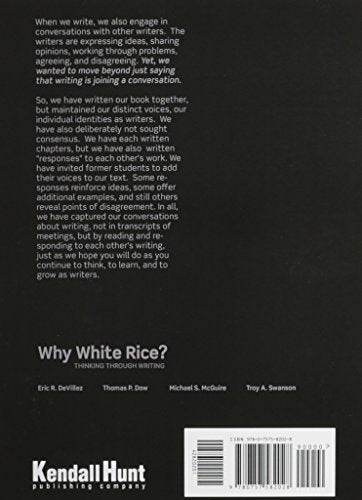 Why White Rice? Thinking Through Writing