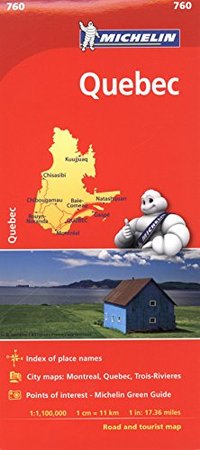 Michelin Quebec Map 760