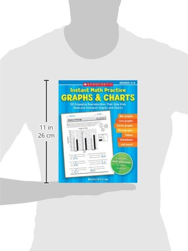 Instant Math Practice: Graphs & Charts (Grades 4-6): 50 Engaging Reproducibles That Help Kids Read And Interpret Graphs And Charts (Teaching Resources)