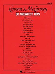 Lennon And Mccartney 60 Greatest Hits: Violin
