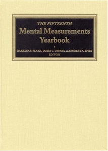 The Fifteenth Mental Measurements Yearbook (Buros Mental Measurements Yearbook)