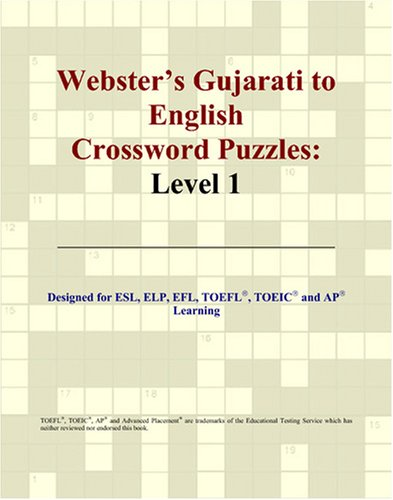 Webster'S Gujarati To English Crossword Puzzles: Level 1