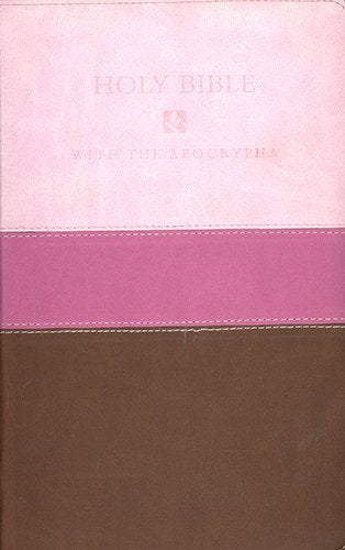 Holy Bible: New Revised Standard Version With The Apocrypha Chocolate / Pink Tri-Color Flexisoft Leather