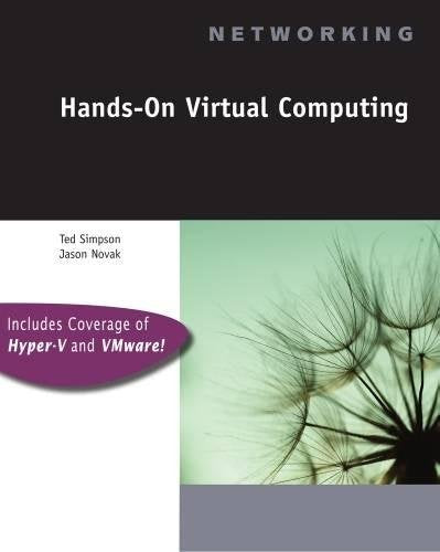 Hands-On Virtual Computing (Networking)