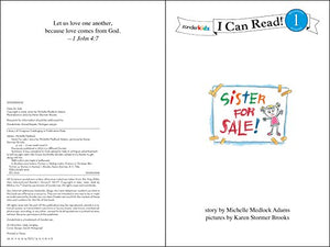 Sister For Sale: Biblical Values (I Can Read Series)
