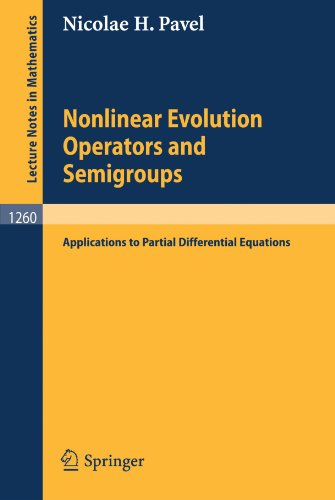 Nonlinear Evolution Operators And Semigroups: Applications To Partial Differential Equations (Lecture Notes In Mathematics)
