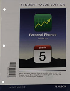 Personal Finance, Student Value Edition (5Th Edition) (The Pearson Series In Finance)