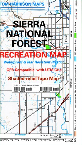 Sierra National Forest Map (Tom Harrison Maps)