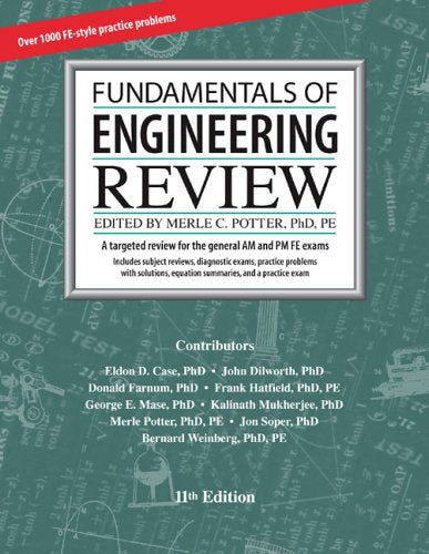 Fundamentals Of Engineering Review, 11Th Edition