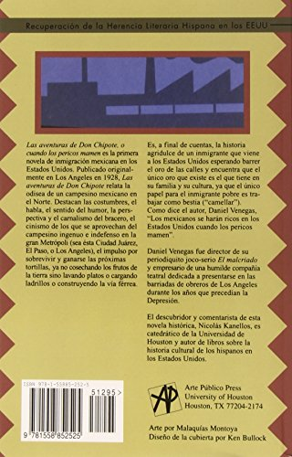 Las Aventuras De Don Chipote, O Cuando Los Pericos Mamen (Recovering The U.S. Hispanic Literary Heritage) (Spanish Edition)