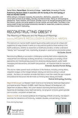 Reconstructing Obesity: The Meaning Of Measures And The Measure Of Meanings (Food, Nutrition, And Culture)