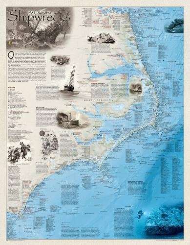 Shipwrecks Of The Outer Banks [Laminated] (National Geographic Reference Map)
