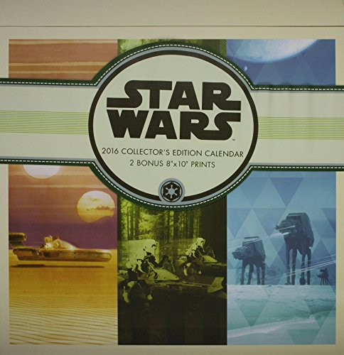 Star Wars Saga 2016 Collector'S Edition Wall Calendar