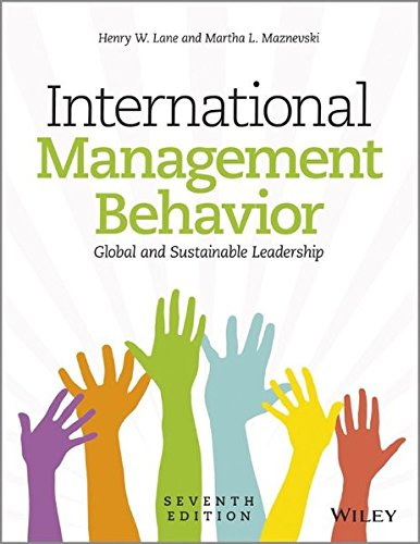 International Management Behavior: Global And Sustainable Leadership