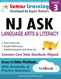 Nj Ask Practice Tests And Online Workbooks: Grade 3 Language Arts And Literacy, Fifth Edition: Common Core State Standards, Njask 2014