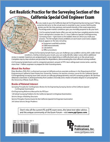 Civil Surveying Sample Exams For The California Special Civil Engineer Examination, 2Nd Ed