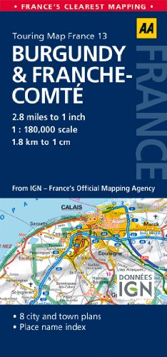 Road Map Burgundy & Franche-Comte (Road Map France)
