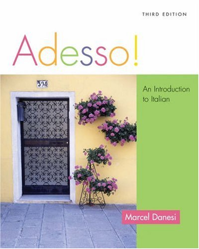 Adesso!: An Introduction To Italian (With Audio Cd)