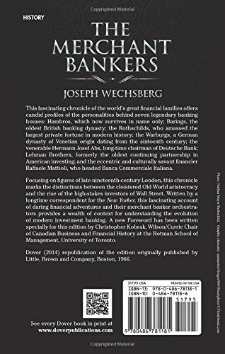 The Merchant Bankers (Dover Books On History, Political And Social Science)