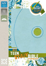 Niv, Teen Study Bible, Compact, Imitation Leather, Blue