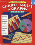 Scholastic Success With Charts, Tables, And Graphs Workbook: Grade 5-6